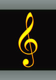 Golden Music Note Stock Images