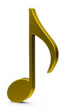 The golden music note Royalty Free Stock Images