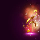 Golden Music Notes Royalty Free Stock Photography