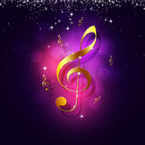 Golden Music Notes Background Royalty Free Stock Photography