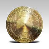 Golden musicoin coin  on white background 3d rendering. Illustration Royalty Free Stock Photography
