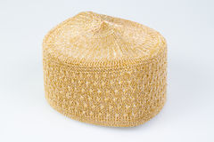Golden Muslim cap. A hat is usually worn male Muslims to prayer Royalty Free Stock Photos