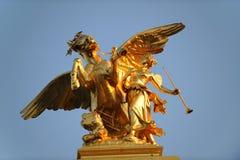 Golden mythological statue  Royalty Free Stock Image