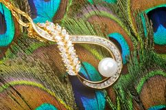 Golden nacklace Royalty Free Stock Photography
