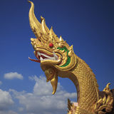 Golden Naga Stock Photography