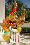Golden Naga (dragon) in Chalong temple Royalty Free Stock Photography