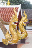 A Golden Naga,The King Of Snake Royalty Free Stock Photography