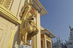 Golden naga Royalty Free Stock Photos