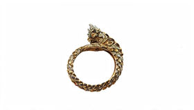 Golden Naga ring Royalty Free Stock Images