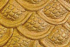 Golden Naga scale for pattern and background Stock Photography