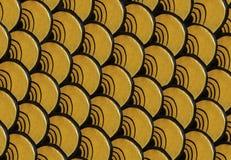 Golden Naga scale pattern Royalty Free Stock Image