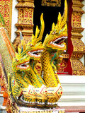 Golden Nagas Stock Photography