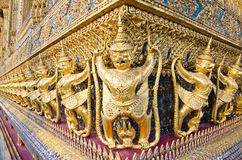 Golden Nagas at Wat Phra Kaew Royalty Free Stock Photo