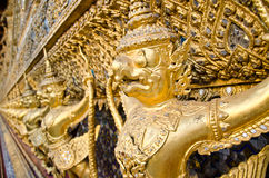 Golden Nagas at Wat Phra Kaew Royalty Free Stock Image