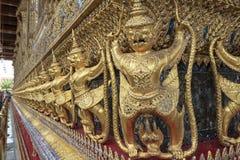 Golden Nagas at Wat Phra Kaew Stock Photo
