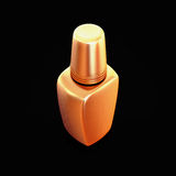 Golden nail polish isolated on black background. High resolution Stock Photos