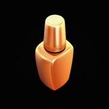 Golden nail polish isolated on black background. Stock Photos