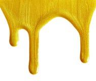 Golden nail polish Royalty Free Stock Image