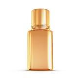 Golden nail polish isolated on white background. Royalty Free Stock Photography