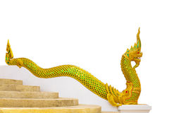 Golden Naka statue Royalty Free Stock Image