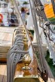 Golden Nautic Pieces Royalty Free Stock Image
