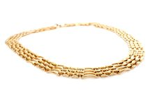 Golden necklace Stock Photos