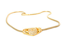 Golden necklace royalty free stock photos