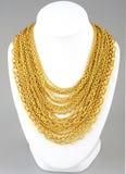 Golden necklace Stock Photos