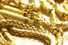 Golden necklace Royalty Free Stock Image