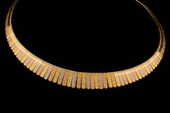 Golden necklace Royalty Free Stock Photo