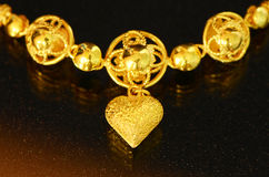 Golden necklace. Stock Images