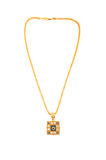 Golden necklace isolated. On the white background Royalty Free Stock Photo