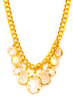 Golden necklace isolated Royalty Free Stock Photo