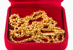 Golden necklace Stock Photography