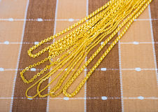 Golden necklaces Royalty Free Stock Image