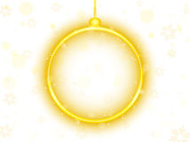 Golden Neon Christmas Ball Background Stock Photo