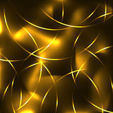 Golden neon laser crossed arches, blur Stock Image