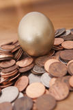 Golden nest egg Stock Photography