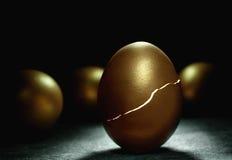 Golden nest egg royalty free stock images