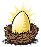 Golden Nest Egg Stock Photos