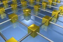 Golden network Stock Image