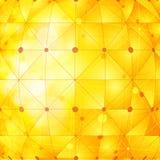 Golden network background Stock Images