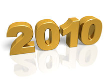 Golden New year Royalty Free Stock Photography