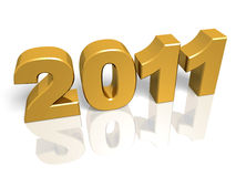 Golden New year royalty free stock photo