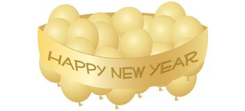 Golden New Year Stock Photos