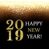 Golden New Year Background With Blur. With Gradient Mesh, Vector Illustration vector illustration