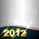 Golden new year design. Vector golden happy new year design with space for your text Stock Illustration