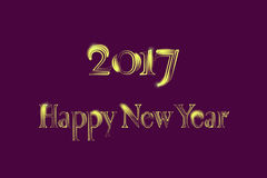 Golden New Year 2017 Greeting Card. Magic sparkle Vector gold glittering textured art Stock Photos