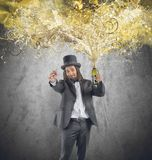 Golden new years eve Royalty Free Stock Photo