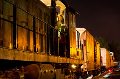 Golden night freight royalty free stock photography